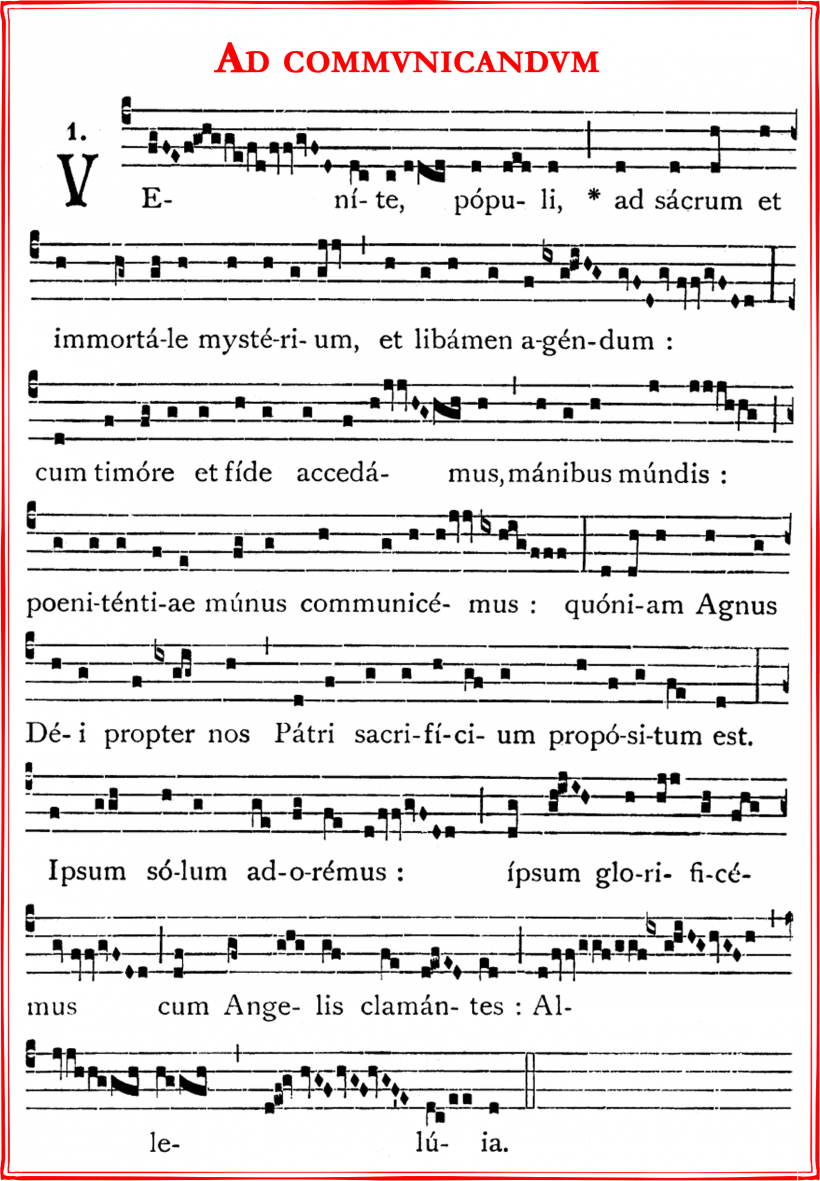 Ad communicandum de l'ancienne liturgie des Gaules