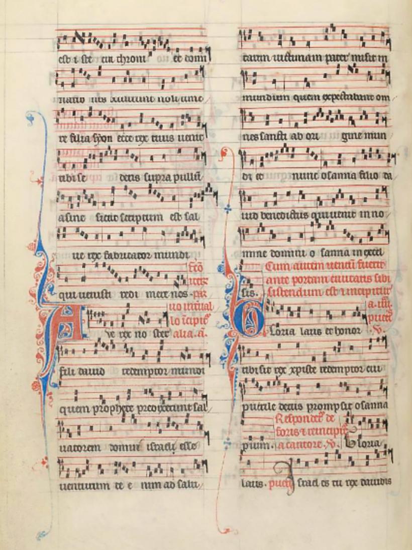 Ave Rex noster - Missel parisien de Saint-Louis de Poissy, c. 1325.
