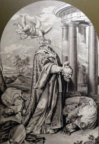 Martyre de saint Denys, saint Rustique & saint Eleuthère - dessin de Pierre II Mignard (1640 - 1725) - Avignon - Musée Calvet
