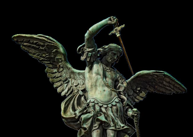 Statue de l'archange saint Michel sur le Château Saint-Ange par Peter Anton von Verschaffelt.