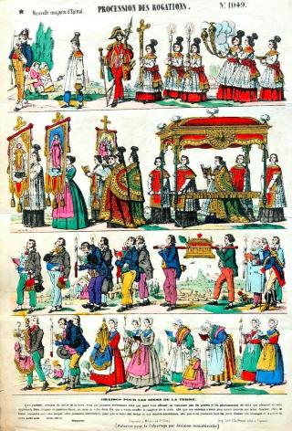 Procession des Rogations - image d'Epinal