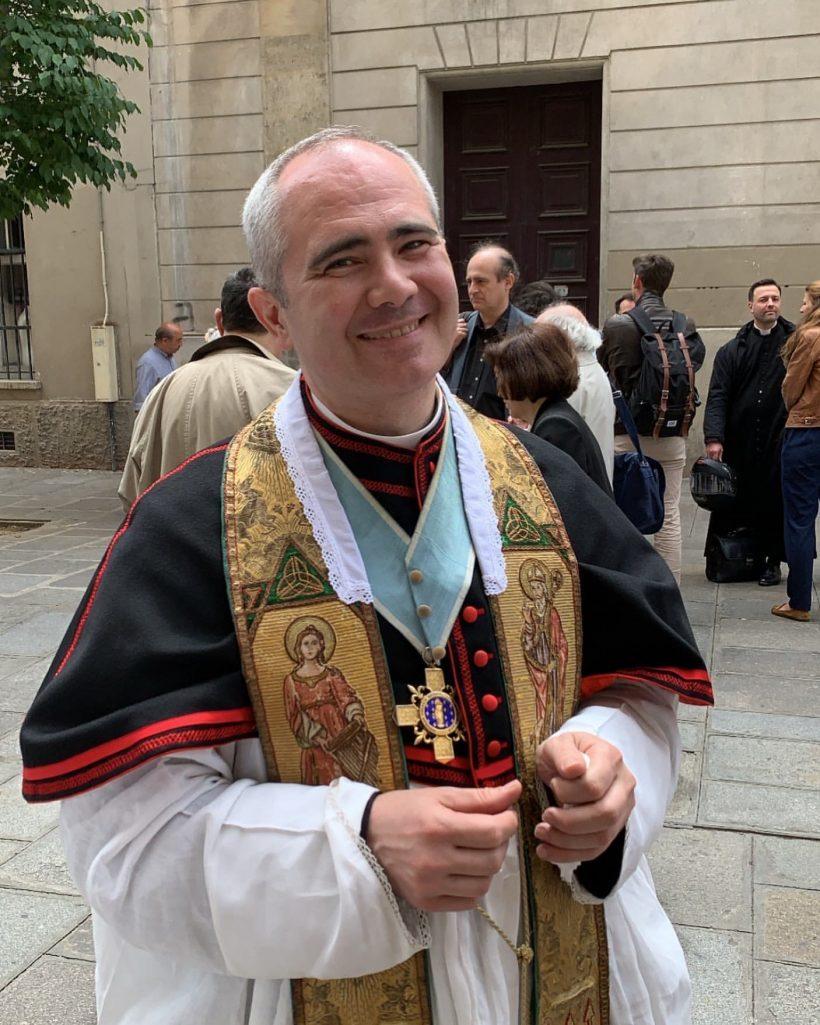 Monsieur le chanoine Marc Guelfucci, curé de saint Eugène