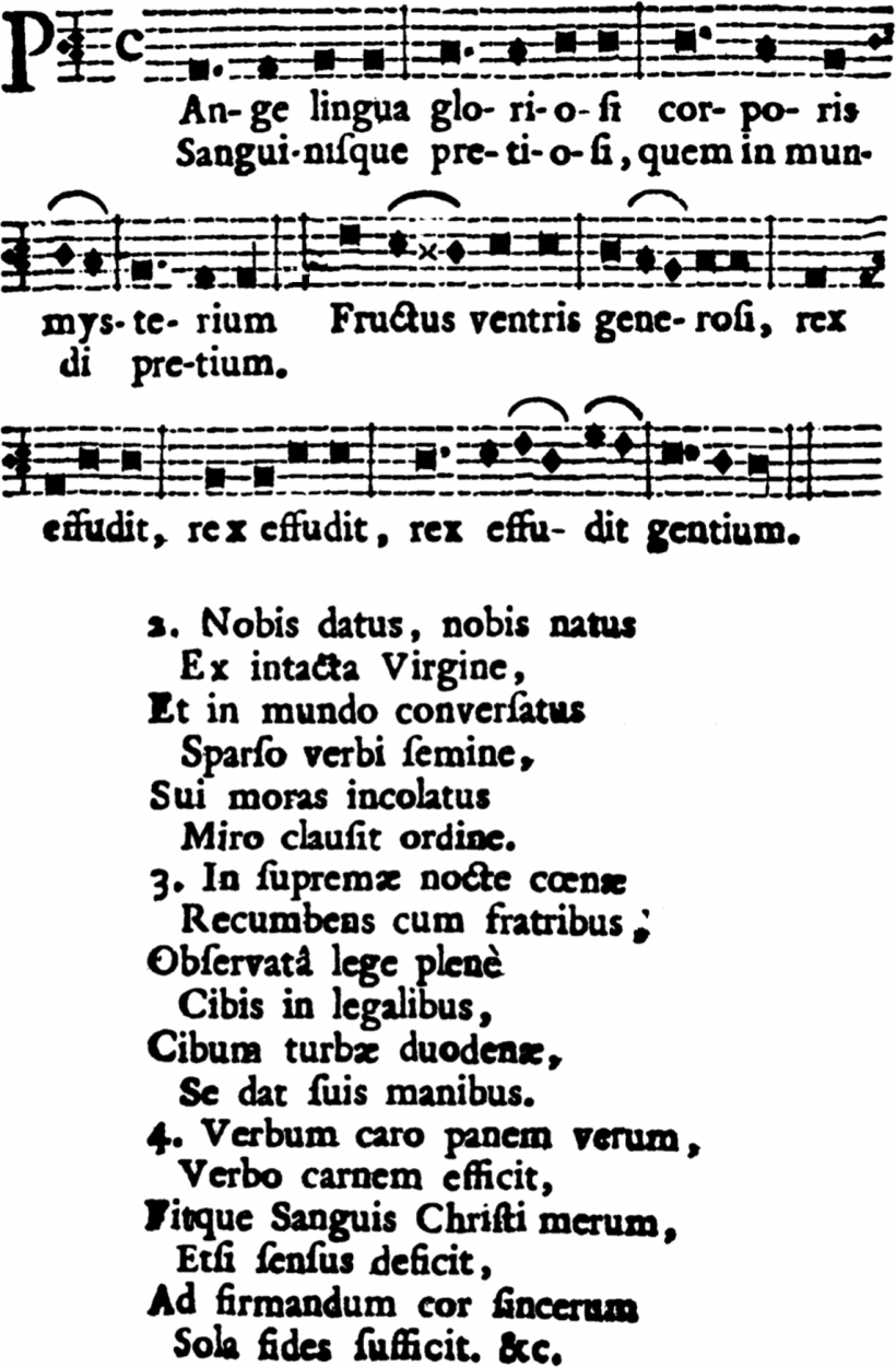 Plain-chant hollandais : Pange lingua - Messis copiosa 1762
