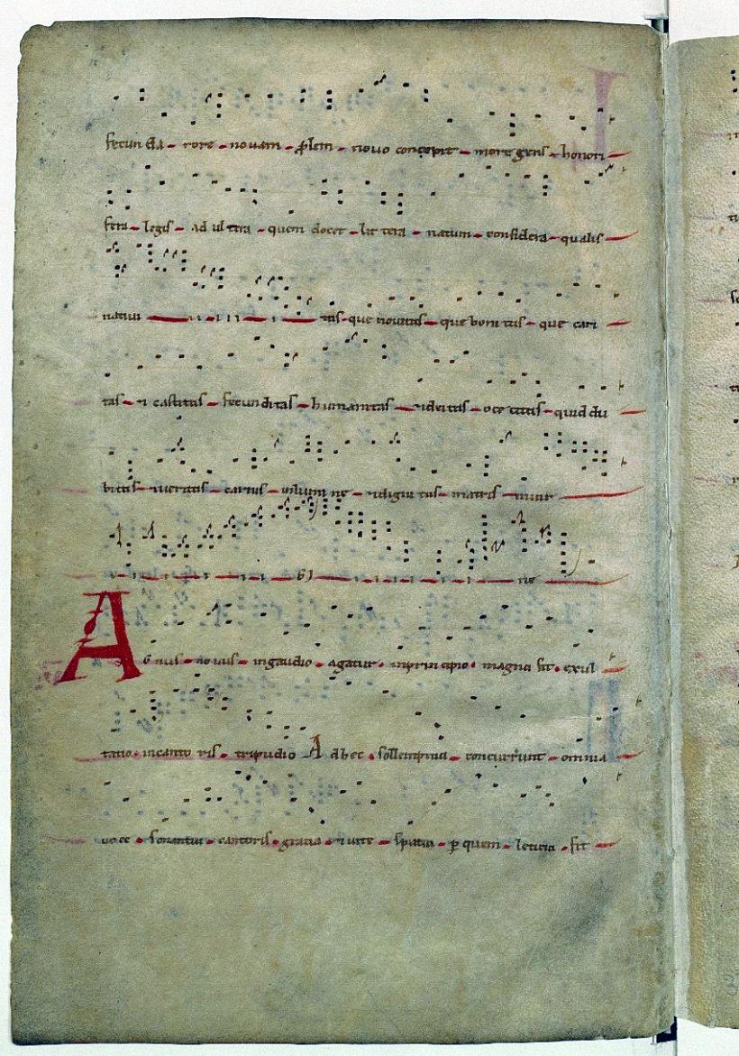 Annus novus in gaudio - conduit du nouvel an - manuscrit de Saint-Martial de Limoges