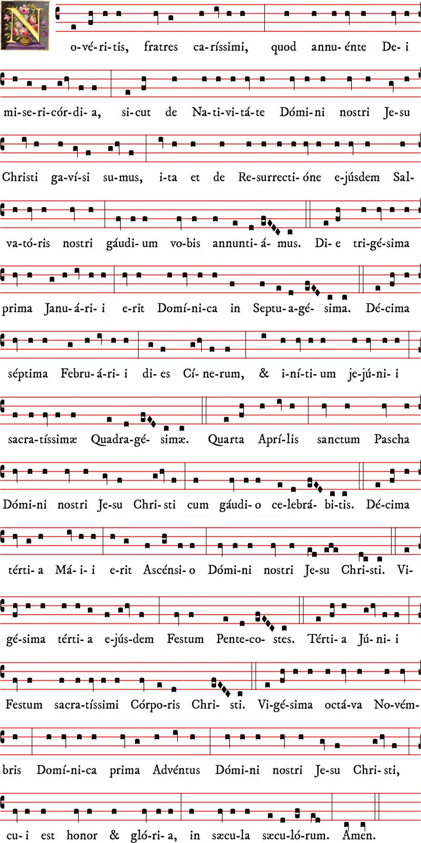 Noveritis Romanum 2021 : proclamation de la date de Pâques et des fêtes mobiles