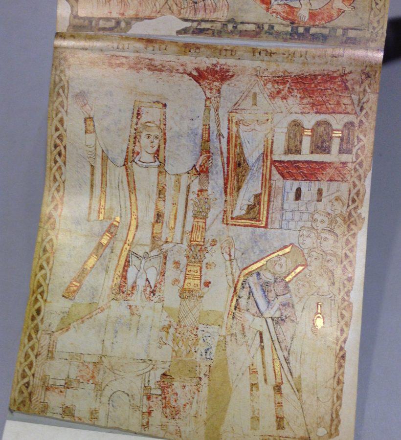 Vigile pascale : allumage du cierge pascal au moyen du roseau et des cierges tressés
