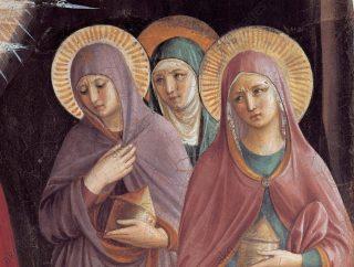 La venue des sainte femmes au tombeau, évangile de la Vigile pascale.