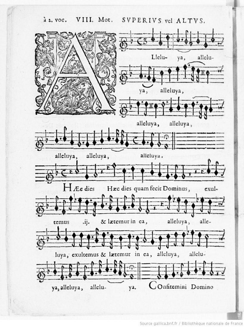 Alleluia Hæc dies d'Henry du Mont - Cantica Sacra - édition de 1652